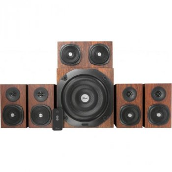 Акустична система Trust Vigor 5.1 Surround Speaker System Brown (21786)