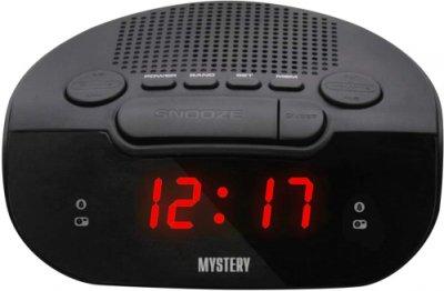 Радіогодинник Mystery MCR-21 Black-Red