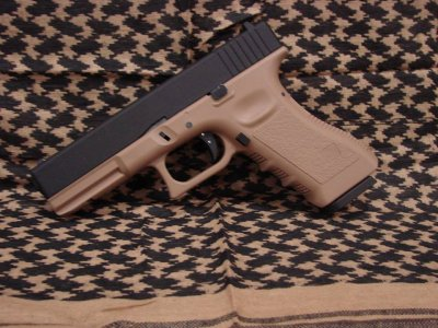 Пістолет KJW Glock 17 Tan Metal Slide CO2 (Страйкбол 6мм)