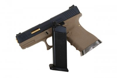 Пістолет WE Glock 19 Force pistol T6 Black Metal GBB (Страйкбол 6мм)