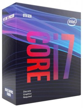 Процесор CPU Core i7-9700F 8 cores 3,00 Ghz-4,70 Ghz/12Mb/s1151/65W Coffee Lake-S (BX80684I79700F) BOX