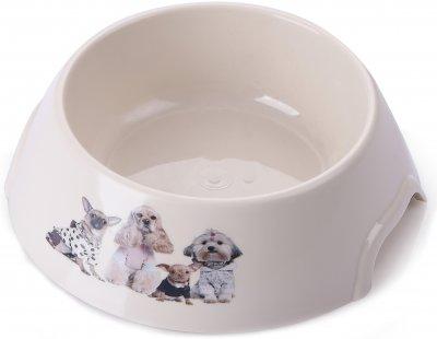 Миска пластик/метал для кішок і собак P 1119-PP-B8 з принтом S 0.15 л (2000981121471)
