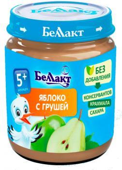 Пюре Беллакт Яблуко-груша, 100 г (250165)