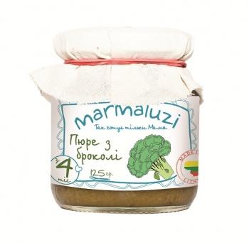 Пюре Marmaluzi з брокколі, 125 г (069942)