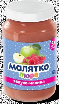Пюре Малятко Яблуко-малина, 190 г (286893)