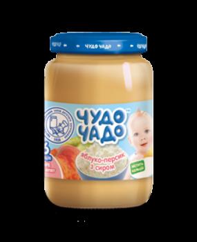 Пюре Чудо-чадо Яблуко та персик з сиром, 175 г (039850)