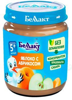 Пюре Беллакт Яблуко-абрикос, 100 г (250169)