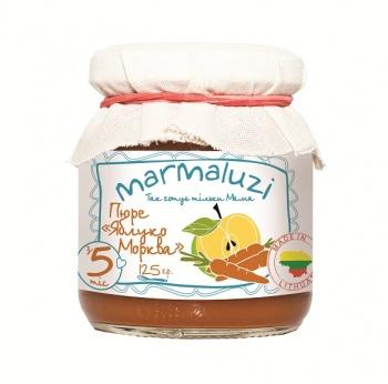 Пюре Marmaluzi яблуко-морква, 125 г (069957)