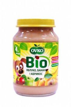 Пюре OVKO Яблуко з бананом і абрикосом, 190 г (085684)