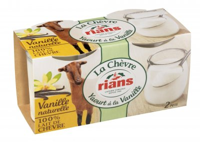 Йогурт Rians из козьего молока с ванилью 2х120 г