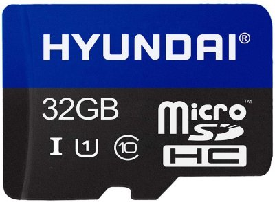 Hyundai Flash microSDHC 32GB Class 10 CL10 U1 + SD-адаптер (SDC32GU1)