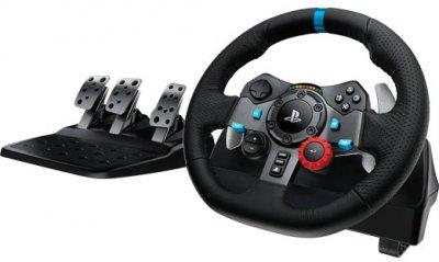 Комплект 3 в 1 Logitech Дротове кермо G29 Racing Wheel and Pedal (941-000112) + Коробка передач Driving Force Shifter (941-000130)