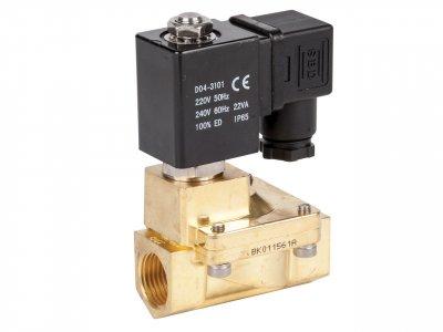 Клапан електромагнітний нормально-відкритий Round Star ZW прямої дії (сідлової)