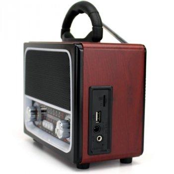 Радиоприемник NNS NS-1385BT радиола в ретро стиле usb tf bluetooth Коричневый