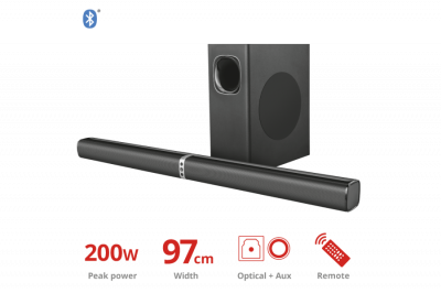Trust Lino XL 2.1 Detachable All-round Soundbar with subwoofer with Bluetooth(23032)