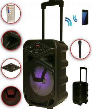 Колонка аккумуляторная DMS K8-8G Bluetooth, USB, MP3, Wireless LED