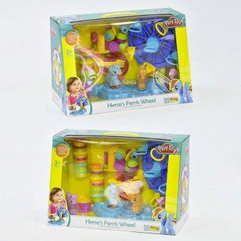 Набор теста для лепки Play-Doh Пони с аксессуарами 12 цветов (SM 8017)