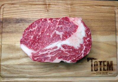 Стейк ТОТЕМ СТЕЙК Рібай (Steak Ribeye) вологої витримки 14+ днів L (350-450г)
