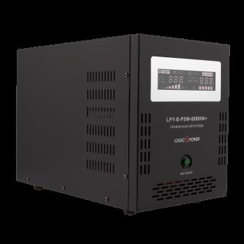 ДБЖ з правильною синусоїда LogicPower LPY-B-PSW-6000VA+(4200W)10A/20A 48V для котлів і аварійного освітлення