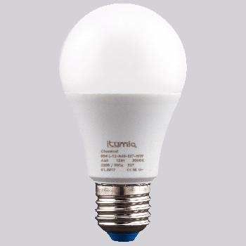 Світлодіодна лампа Ilumia 12Вт, цоколь Е27, 3000К (теплий білий), 1200Лм (004)