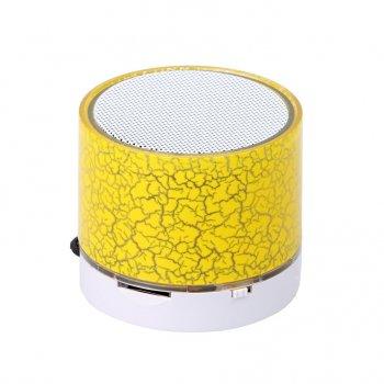 Портативная светящейся MP3 колонка VIVO Bluetooth V3.0 с FM радио Желтая