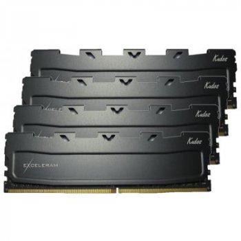 Модуль пам'яті для комп'ютера DDR4 16GB (4x4GB) 2400 MHz Black Kudos eXceleram (EKBLACK4162415AQ)