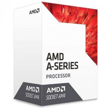 Процесор CPU AMD Bristol Ridge A8 4C/4T 9600 (3.1/3.4 GHz, 2MB, 65W, AM4) Radeon R7 Series (AD9600AGABBOX) BOX