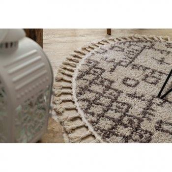Килим Лущув Berber 160 см кремовий круглий (GR2833)