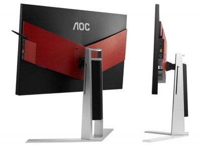 """Монітор AOC 24.5"""" AG251FG Black/Silver; 1920x1080, 400 кд/м2, 1 мс, HDMI, Displayport, 4xUSB3.0, динаміки 2х2 Вт"""