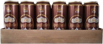 Упаковка пива Alpenkaiser Hefeweizen Dunkel темное нефильтрованное 5.5% 0.5 л х 24 шт (4015576056029)