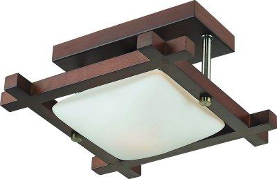 Стельовий світильник Altalusse INL-3092C-01 Antique brass & Walnut Е27 1Х40Вт
