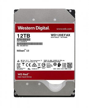 Накопичувач HDD SATA 12.0TB WD Red NAS 5400rpm 256MB (WD120EFAX)