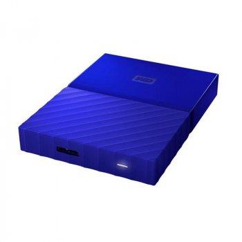 """Накопичувач зовнішній HDD 2.5"""" USB 1.0 TB WD My Passport Blue (WDBYNN0010BBL-WESN)"""