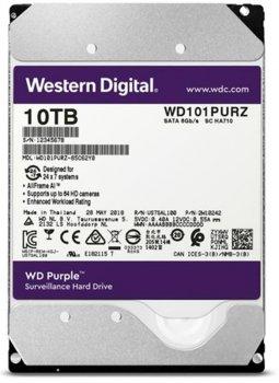 Накопичувач HDD SATA 10.0 TB WD Purple 7200rpm 256MB (WD101PURZ)