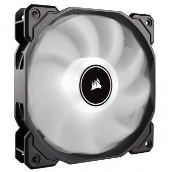 Вентилятор Corsair AF120 LED (2018) White (CO-9050079-WW), 120х120х25мм, 3-pin, чорний