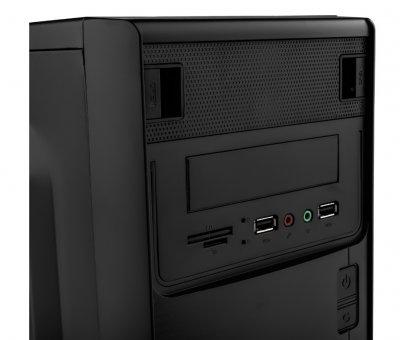 Корпус Logicpower 6103-450w 12см, 2хUSB2.0, Black