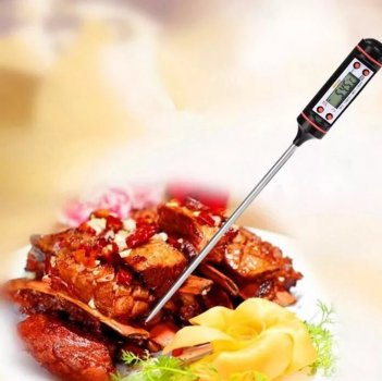 Термометр кухонный (для кухни, продуктов, мяса, молока, овощей, йогурта) электронный с иглой-щупом
