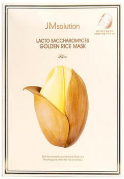 Тканевая маска JMsolution Lacto Saccharomyces Golden Rice Mask с ферментированными компонентами 30 мл (8809505542914)