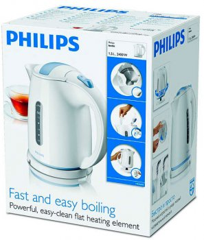 Электрочайник PHILIPS Daily Collection HD4646/70 Белый/голубой