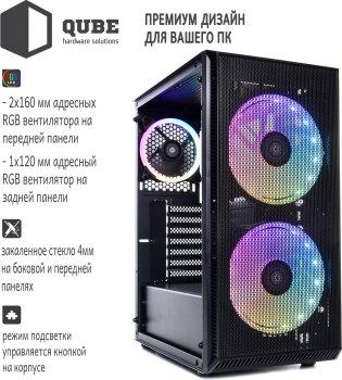 Корпус QUBE Neptune 500W APFC Black (QB07N_FC5U3)