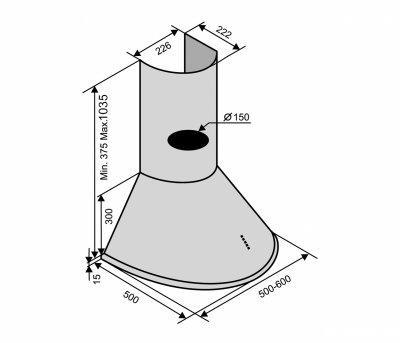 Вытяжка VENTOLUX CAPRI 60 WH (800)