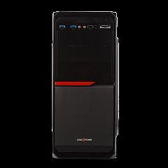 Корпус LP 2012-400W 8см black case chassis cover с 2xUSB3.0+1xUSB2.0