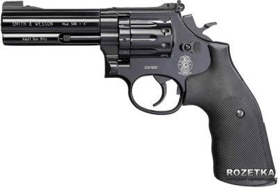 """Пневматический пистолет Umarex Smith&Wesson Mod. 586, 4"""" (448.00.04)"""