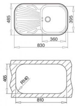 Кухонная мойка TEKA STYLO 1B 1D полированная 10107021