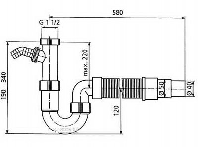 Сифон для кухонної мийки BLANCO 137262