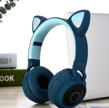 Бездротові навушники Fingertime BT028C з котячими вушками BLUE