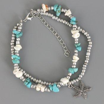 Браслет Traum 4228-83 Бело-голубой (4820004228837)