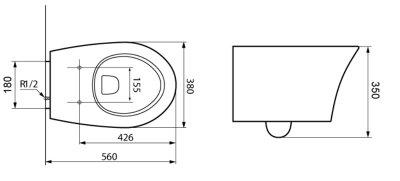 Унітаз підвісний DEVIT Gredos 3020129 з сидінням дюропласт Soft Close