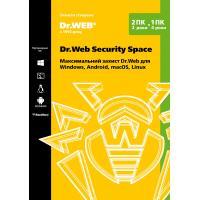Антивірус Dr. Web Security Space 2 ПК/2 роки (Версія 12.0). Картонний конверт (KHW-B-24M-2-A2)