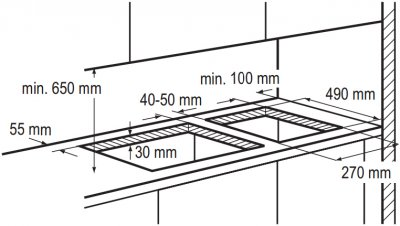Варочная поверхность газовая Domino ZANUSSI ZGG35214XA